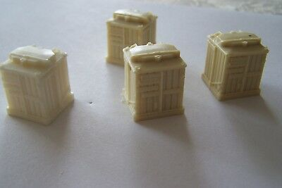 Oo Gauge Four Reproduced Hornby Cement Container Loads, Unpainted. • 3.40£