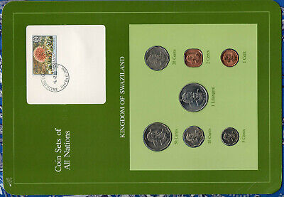 $14.78 • Buy Coin Sets Of All Nations Swaziland 1975-1982 20, 5 Cents, 1 Lilangeni 1979