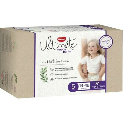 AU30 • Buy Huggies Ultimate Nappy Pants, Unisex, Size 5 (14-18kg), 51 Count