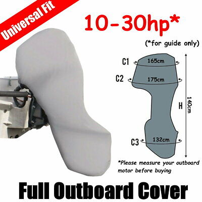AU51 • Buy 10-30hp Full Outboard Boat Motor Engine Cover Dust Rain Protection Grey