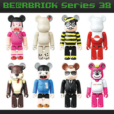$27.95 • Buy Bearbrick Be@rbrick 38 8P Set 8pcs Cute Pattern Artist JellyBean Animal Hero