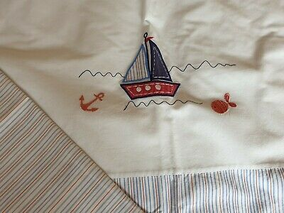 Laura Ashley Kids Boys Single Bedding Set. Nautical Ship Design With Pillowcase • 7£