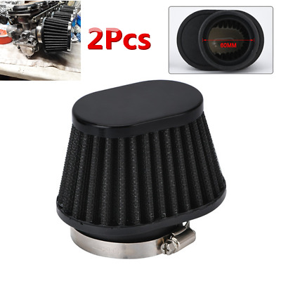 £14.30 • Buy Universal ATV Motorcycle Air Filter Breather Oval Flow Intake Cone Pod 60mm 2Pcs