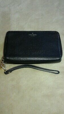 $ CDN70 • Buy Kate Spade Wrist Clutch Wallet Black Leather