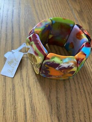 Jackie Brazil Sabrina Kandinsky Mix Stretchy Bracelet BO225 New With Tags • 38£