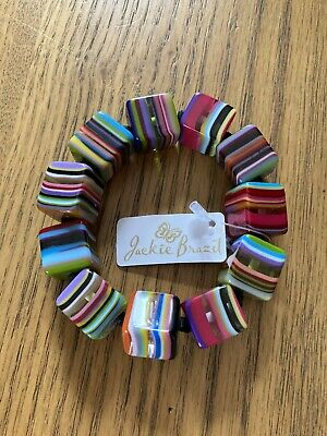 Jackie Brazil Small Cubes Liquorice Allsorts Bracelet BO224 New With Tags • 30£