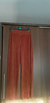 River Island Crinkle Trousers UK10 Colour Rust - Excellent Condition • 18£