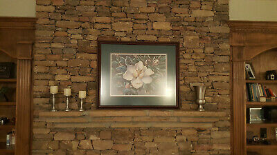 $35 • Buy Magnolia Flower Print - Framed And Matted (Green)