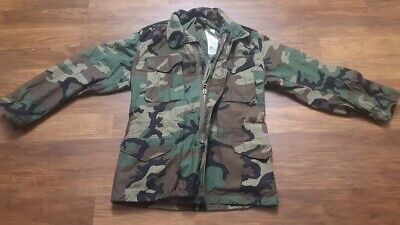 $45 • Buy Us Army Woodland Camo M-65 Field Jacket Small/ Regular Stow Hood Clean