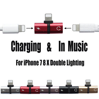 AU5.90 • Buy 2 In 1 Connector Splitter Charger Audio Headphone OTG Adapter Portable  IPhone