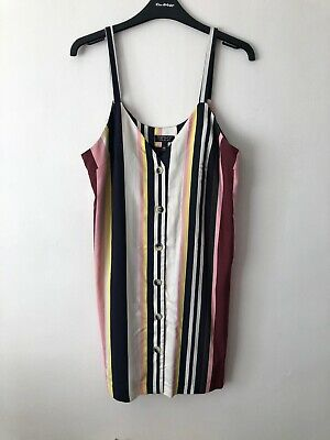 Topshop Cami Striped Dress, Size 10. NEW WITHOUT TAGS • 2£