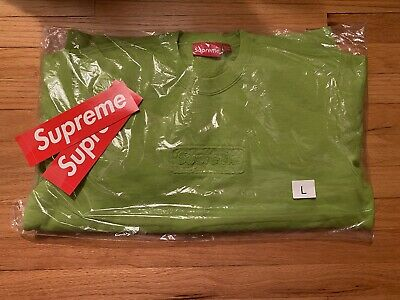 $ CDN253.35 • Buy Supreme Cutout Box Logo Crewneck Box Logo Lime Size Large, DEADSTOCK, NWT