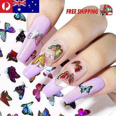 AU3.27 • Buy NEW 3D Nail Decor Decal Stickers Nail Art Accessories Butterfly Design Christmas
