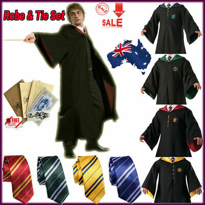AU21.99 • Buy Harry Potter Halloween Robe Costume Cosplay Gryffindor Slytherin Scarf LED Wand