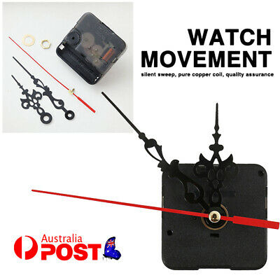 AU8.98 • Buy DIY Quartz Clock Movement Mechanism Hands Wall Repair Tool Parts Kit Set Silent