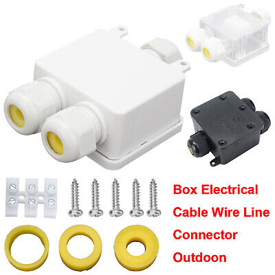 £4.59 • Buy Waterproof Junction Box Outdoor Case /Electrical Cable Wire Connector 24A 3 Way