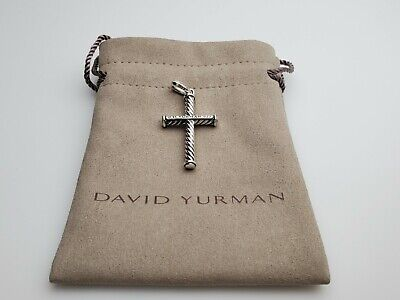$129 • Buy David Yurman Sterling Silver Men's Cable Classic Collection Cross Pendant