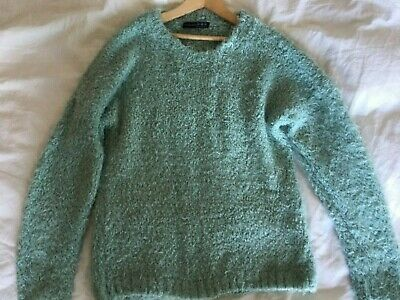 Atmosphere Fluffy Mint Slouchy Knitted Jumper Womens Size 10 • 4£