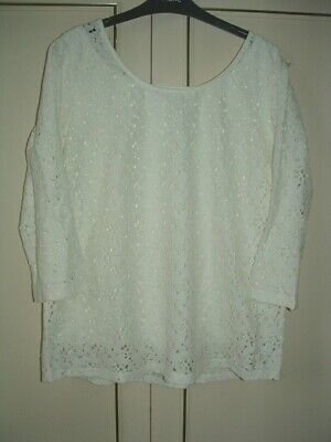 £9.50 • Buy Clearance ~ *next* 3/4 Sleeve Lace Top- Ivory-16-new.