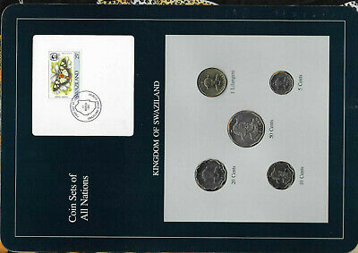 $16.79 • Buy Coin Sets Of All Nations Swaziland W/card UNC 1979-1986 Lilangeni 5,20 Cent 1986