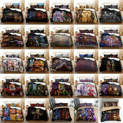 AU40.99 • Buy FNAF Five Nights At Freddy's Bedding Set 2/3PC Duvet Cover Pillowcase Fan's Gift