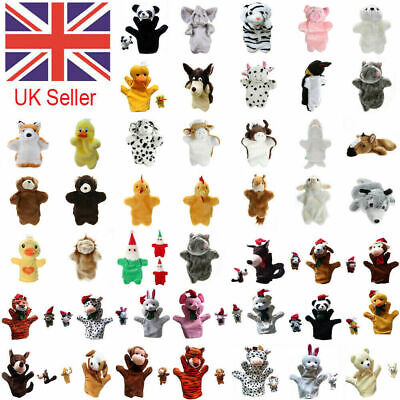 £5.59 • Buy 49 Styles Animal Hand Glove Puppet Soft Plush Puppets Kid Childrens Toy Funny