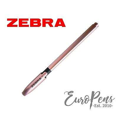 £1.45 • Buy Zebra Rose Gold Pens - Smooth Black Ballpoint - Discounted Quantities Available
