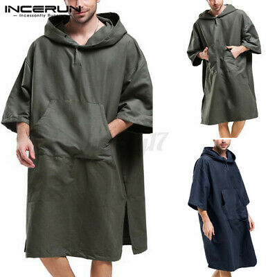 UK Surf Beach Bath Poncho Changing Robe For Men Women With Hood Bathing Hoodies • 11.03£
