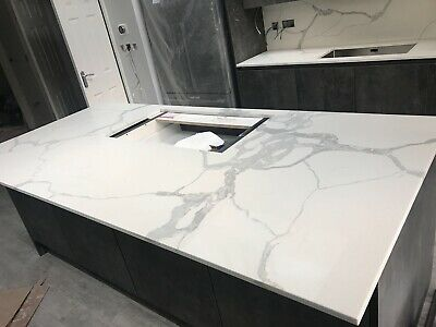 Marble Effect | Quartz | Kitchen Worktops | Sample | ALL COLOURS AVAILABLE • 0.99£