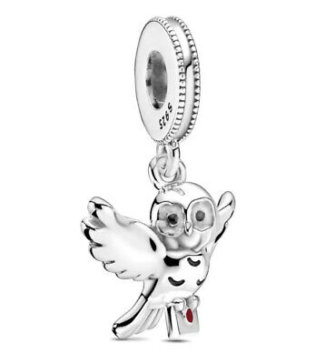 🇬🇧💜💜925 Sterling Silver Hedwig Owl Harry Potter Charm & Pouch • 18.99£