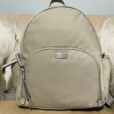 $ CDN130.50 • Buy Kate Spade Dawn Large Backpack Laptop Grey Nylon Bag Shoulder Purse New Nwt