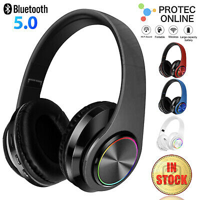 AU25.95 • Buy Bluetooth 5.0 Wireless Stereo Headphones Earphones For IPad Phone IOS Android