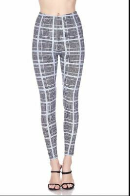 $5.25 • Buy ONE SIZE 2-10 Houndstooth Blue Stripe Leggings NWT