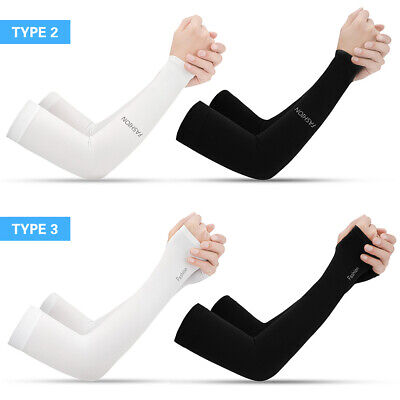 1 Pair Cooling Arm Sleeves UV Protective Absorbent Arm Cover For Cycling Driving • 2.99£