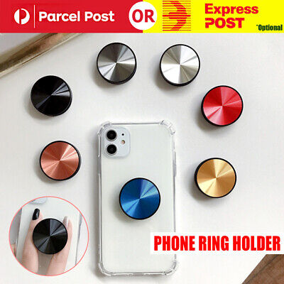 AU7.95 • Buy Universal Metal Disk Pop Up Socket Mount Grip Stand Mobile Phone Ring Holder AU