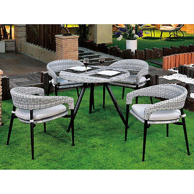 AU609.99 • Buy 5PCs Outdoor Furniture Wicker Table&Chairs Cushion Garden Patio Dining Chairs