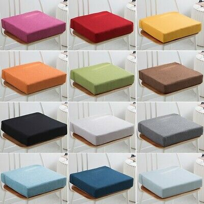 £12.32 • Buy Colourful Square Booster Seat Cushions Floor Dining Chair Soft Solid Pads