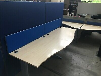 £108 • Buy Maple Office Wave Desks, Cable Managed Legs, Computer, Call Centre,