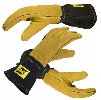 £29.90 • Buy Professional ESAB Welding Gloves MMA MIG TIG Curved 10/XL Normal Size Gauntlets