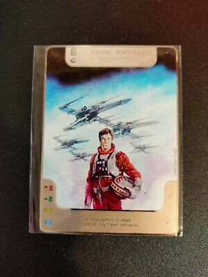 Star Wars X-Wing Double Sided Metal Alt Art Promo Card Wedge Antilles/Jake Farre • 10£