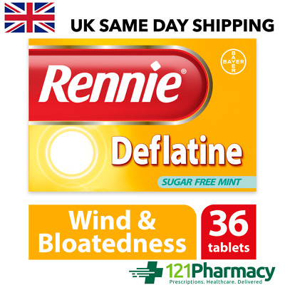 Rennie Deflatine Tablets - 36 | Effective Relief From Trapped Wind & Bloatedness • 7.15£