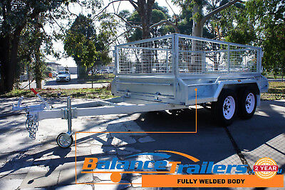 AU3350 • Buy 9x5 Hot Dip Galvanised Fully Welded Tandem Ttrailer With 600mm  Cage