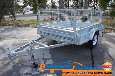 AU1900 • Buy 7x5 Hot Dip Galvanised Full Welded Tipper Box Trailer With 600mm Removable Cage