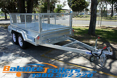 AU4150 • Buy 9x5 Hot Dip Galvanised Full Welded Heavy Duty Tandem Trailer ATM 3200KG 3.2T