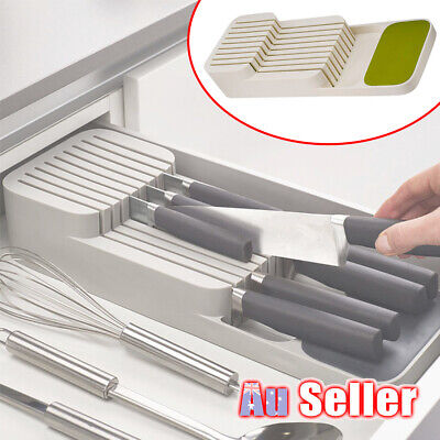 AU22.95 • Buy Holder Rack Knives Kitchen Tray Organizer  Knife Drawer  Block Storage