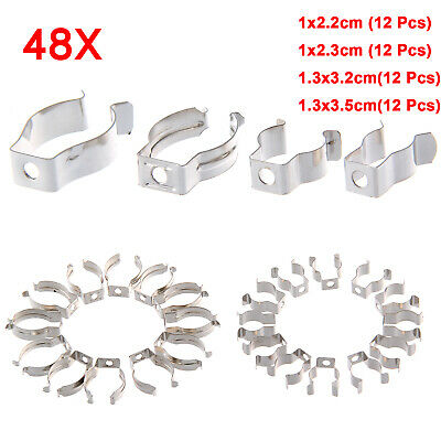 48 PCS Heavy Duty Assorted Tool Spring Terry Clips Storage Shed Garage UK • 6.39£