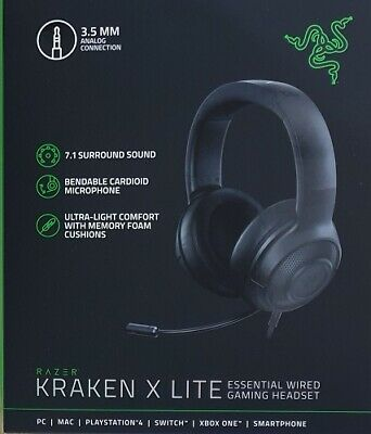 AU99 • Buy Razer Kraken X Lite Essential Wired Gaming Headset