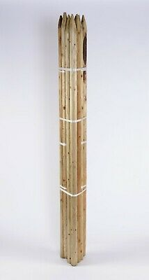 £39.95 • Buy 10 X 1.8m 6ft X 50mm Round Pointed Tree Stake Treated Fence Post
