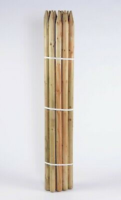 10 X 1.8m 6ft X 60mm Round Treated Tree Stake Fence Posts • 45.95£