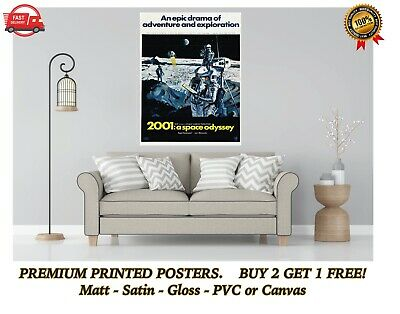 £3.50 • Buy 2001 A Space Odyssey Classic Movie Large Poster Art Print Gift A0 A1 A2 A3 Maxi